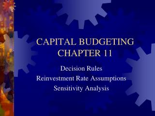 CAPITAL  BUDGETING CHAPTER 11