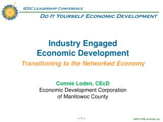 Industry Engaged  Economic Development