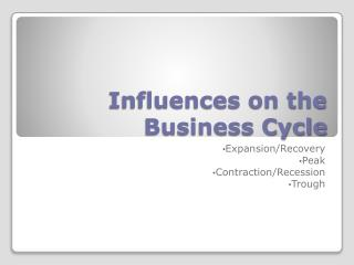 Influences on the Business Cycle