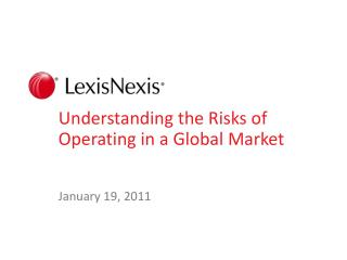 Understanding the Risks of Operating in a Global Market