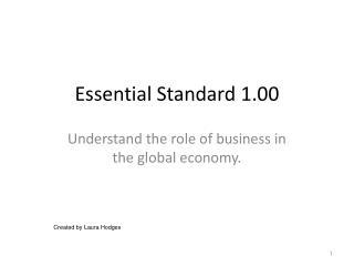 Essential Standard 1.00