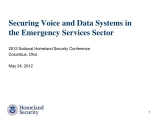 Securing Voice and Data Systems in the Emergency Services Sector