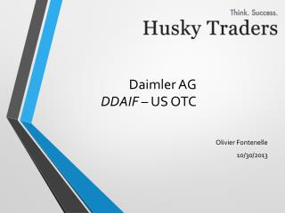 Daimler AG DDAIF  – US OTC