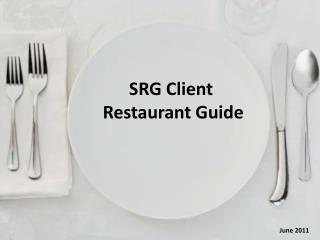 SRG Client               Restaurant Guide