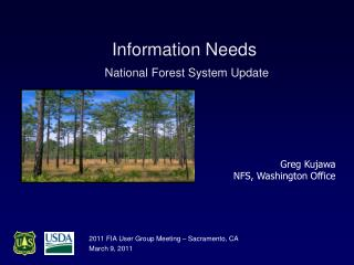 Information Needs   National Forest System Update