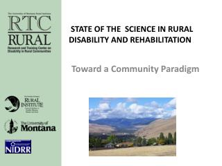 State of the  Science in Rural Disability and Rehabilitation