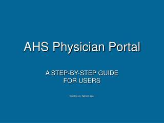 ahs physician portal