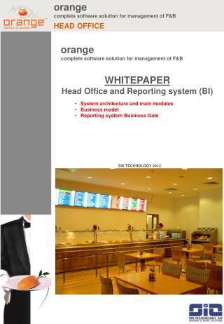 orange complete software solution for management of F&B