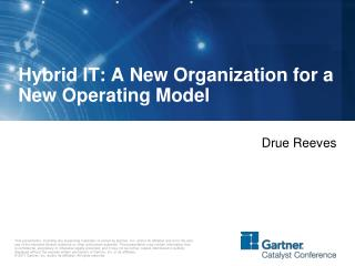Hybrid IT: A New Organization for a New Operating Model