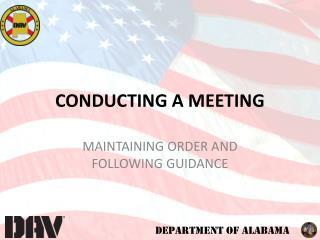 CONDUCTING  A MEETING