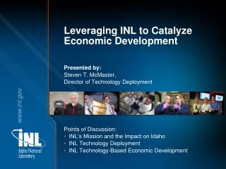 Leveraging INL to Catalyze Economic Development