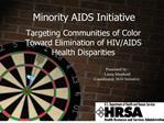 minority aids initiative
