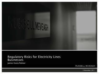 Regulatory Risks for Electricity Lines Businesses James Every-Palmer
