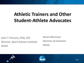 Athletic Trainers and Other Student-Athlete Advocates