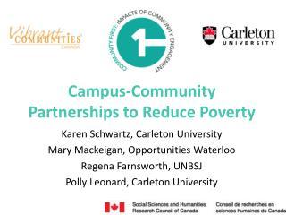 Campus-Community Partnerships to Reduce Poverty
