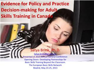 Evidence for Policy and Practice Decision-making for Adult Skills Training in Canada