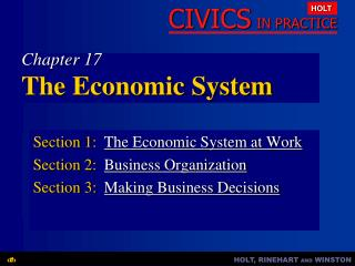 Chapter 17 The Economic System