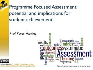 Programme Fo cused Assessment : potential and implications for student achievement.