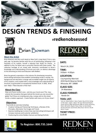 DESIGN TRENDS  & FINISHING
