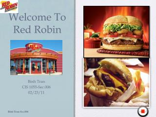 Welcome To Red Robin