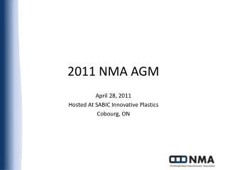 2011 NMA AGM