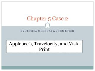 Chapter 5 Case 2