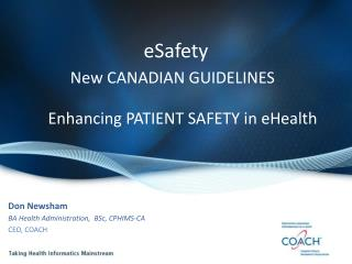 eSafety New CANADIAN GUIDELINES