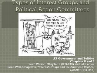 Types of Interest Groups and Political Action Committees