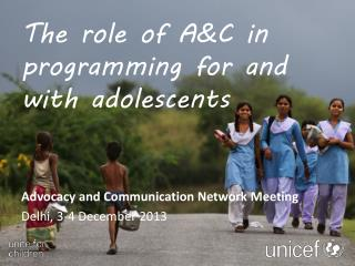 The role of A&C in programming for and with adolescents