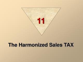 The Harmonized Sales TAX