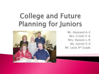 College and Future Planning for Juniors
