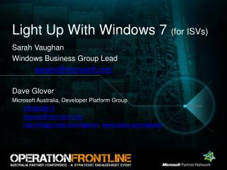 Light Up With Windows 7  (for ISVs)