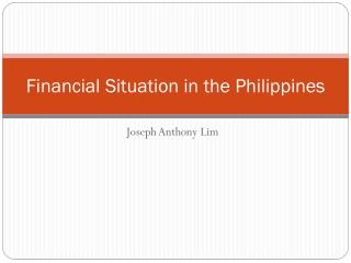 Financial Situation in the Philippines