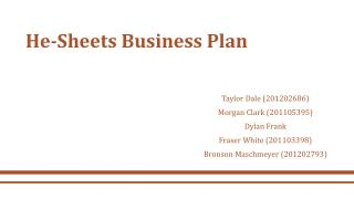 He-Sheets Business Plan