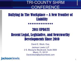 TRI-COUNTY SHRM CONFERENCE