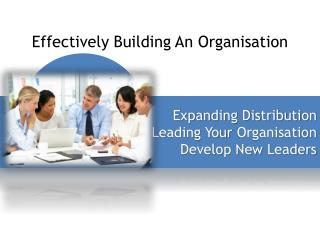 Effectively Building An  Organisation