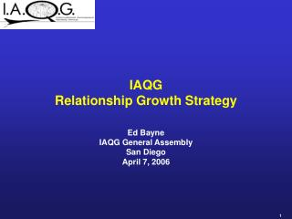 iaqg relationship growth strategy