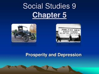Social Studies 9 Chapter 5