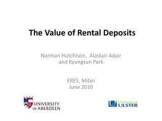 The Value of Rental Deposits
