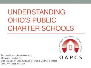 Understanding Ohio�s Public Charter Schools