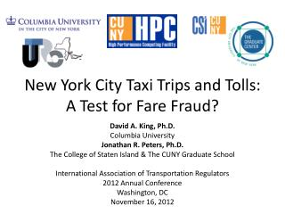 New York City Taxi Trips and Tolls: A Test for Fare Fraud?