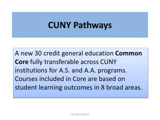 CUNY Pathways