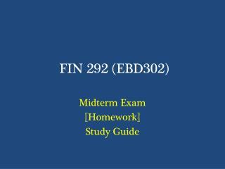FIN 292 (EBD302)