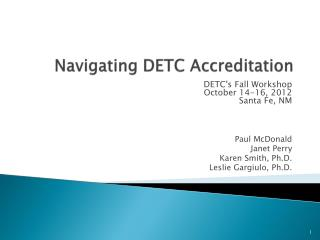 Navigating DETC Accreditation