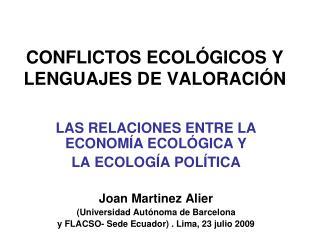 conflictos ecol gicos y lenguajes de valoraci n