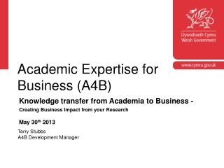 Academic Expertise for Business (A4B)