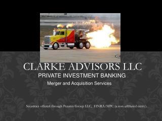CLARKE ADVISORS LLC