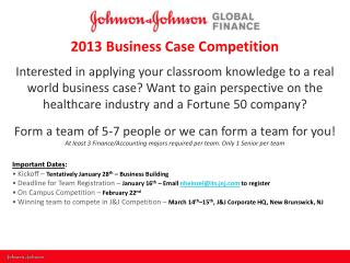 2013 Business Case Competition