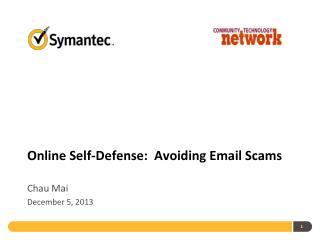 Online Self-Defense:  Avoiding  Email  S cams