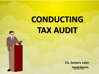 CONDUCTING TAX AUDIT